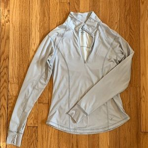Old navy grey and white striped quarter zip.
